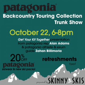 Patagonia's Backcountry Touring Collection Trunk Show