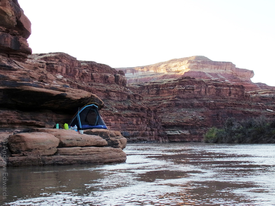 Camp on the Green River - Canyonlands National Park