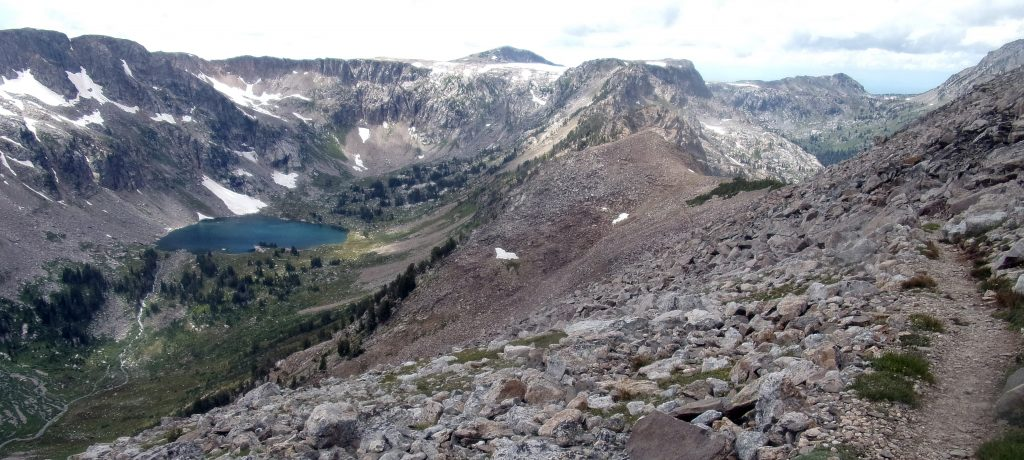 Lake Solitude from above; descending from Paintbrush Divide