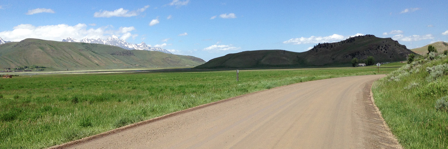 Putting on road miles in the Elk Refuge